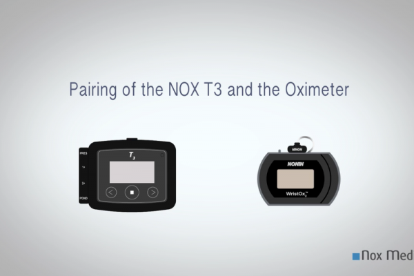Pairing of Nox T3 to the Nonin 3150 Oximeter